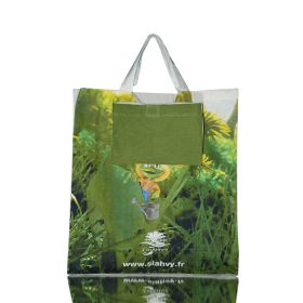 pouch in printed shopping bags